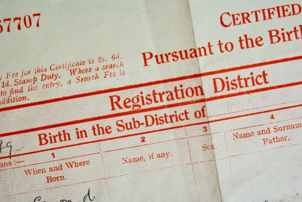 English-birth-certificate